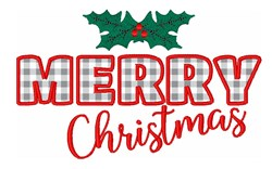 Christmas Holiday Merry embroidery design
