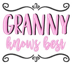 Granny Knows Best embroidery design
