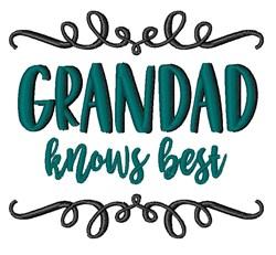 Grandad Knows Best embroidery design