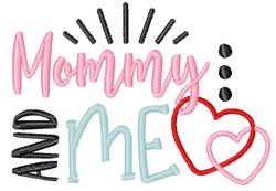 Mommy Me Baby Child Hearts embroidery design