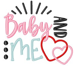 Baby Me Child Hearts embroidery design