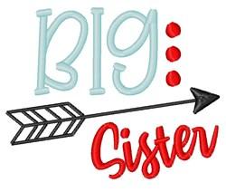 Big Sister Arrow embroidery design
