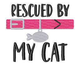 Rescued By Pet Cat Collar embroidery design