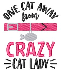 One Cat From Crazy embroidery design