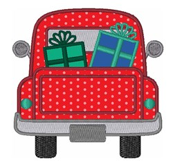 Christmas Gifts Truck embroidery design