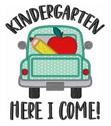Kindergarten School Pencil Apple Truck embroidery design