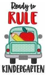 Rule Kindergarten Pencil Apple Truck embroidery design