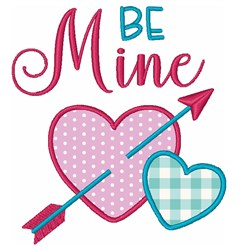 Hearts Valentines Day Be Mine embroidery design