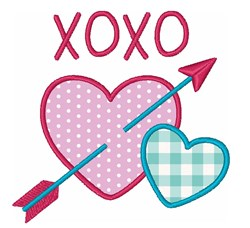 Hearts Valentines Day Kisses Hugs embroidery design