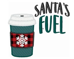 Santa Fuel Coffee To Go CUp embroidery design