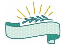 Applique Banner embroidery design