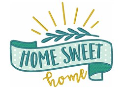 Banner Sweet Home embroidery design