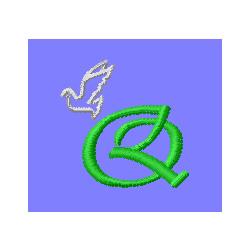 dove letter q em...Q Letter Design