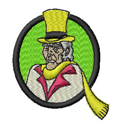 Scrooge embroidery design