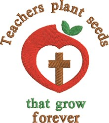 Teachers Plant Seeds embroidery design