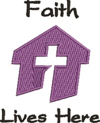 Faith Lives Here embroidery design