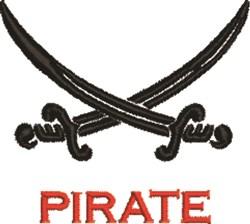 Pirate Swords embroidery design