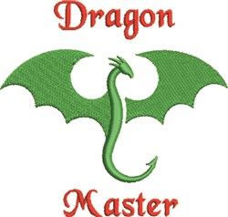 Dragon Master embroidery design