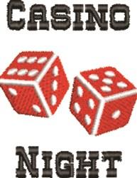 Casino Night embroidery design