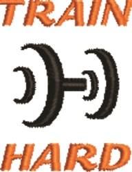 Train Hard embroidery design