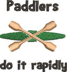 Paddlers embroidery design