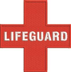 Lifeguard embroidery design