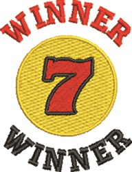 Winner 7 embroidery design