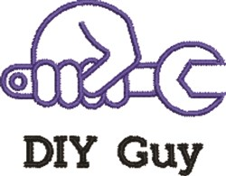 DIY Guy embroidery design