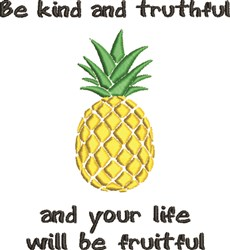 Life Will Be Fruitful embroidery design