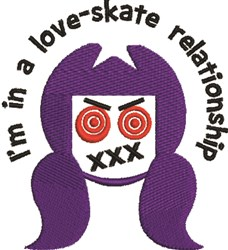 A Love-Skate Relationship embroidery design
