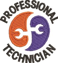 Professional Technician embroidery design