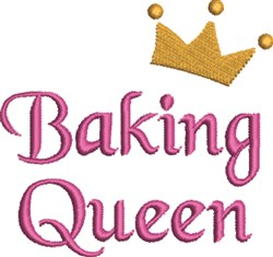 Baking Queen embroidery design