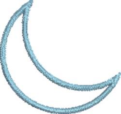 Crescent Moon 1 Medium embroidery design