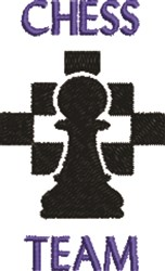 Chess Team embroidery design