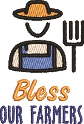 Bless Our Farmers embroidery design
