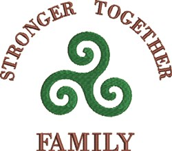 Stronger Together embroidery design