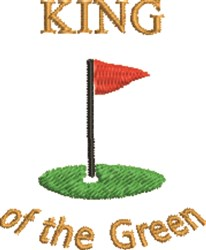 King Of The Green embroidery design