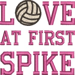 Love At First Spike embroidery design