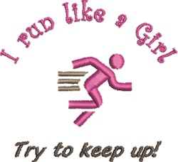 Run Like A Girl embroidery design
