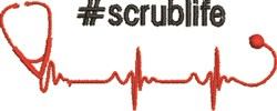 #Scrublife embroidery design
