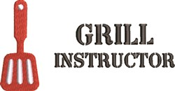 Grill Instructor embroidery design