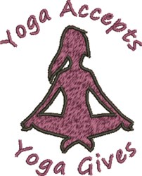 Yoga Accepts embroidery design