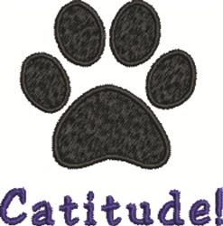 Catitude embroidery design
