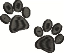 Pawprints embroidery design
