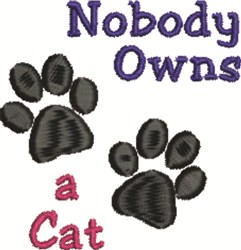 Own A Cat embroidery design