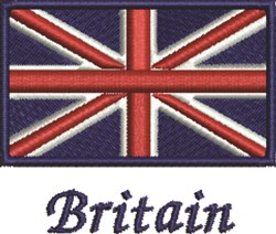 Britian Flag embroidery design