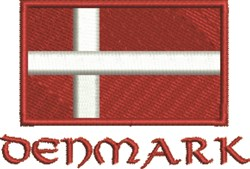 Denmark Flag embroidery design