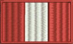 Peru Flag embroidery design