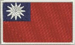 Taiwan Flag embroidery design