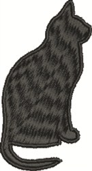 Sitting Cat embroidery design